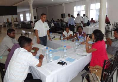 Les représentants de la Région Analamanga lors de la session de planification régionale